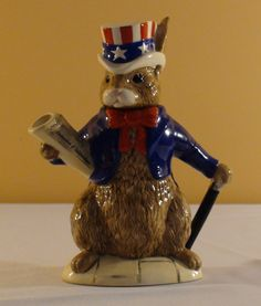 Royal Doulton Bunnykins USA President Teapot by HostessHouse