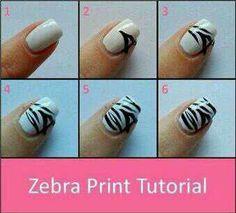 zebra nail art tutorial. brilliant!