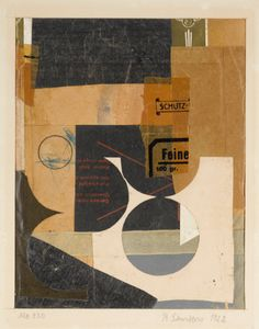 Kurt Schwitters 1887 - 1948 MZ 430 Signed K. Schwitters, titled and dated 1922 (on the mount) Collage and cloth tape on paper mounted on card Sheet: 8 by 6 in. by cm Mount: 12 by 9 in. by cm Executed in PROVENANCE Cu Photo Collage Board, Collage Foto, Collage Artwork, Painting Collage, Kurt Schwitters, Photomontage, Hans Richter, Modern Art, Contemporary Art