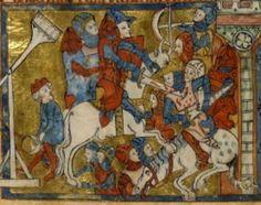 Manuscript BNF Français 24364 Roman de Toute Chevalerie Folio 5v Dating 1308-1312 From London, England Holding Institution Bibliothèque Nationale