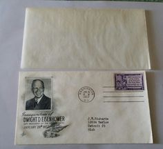 Original Eisenhower Inaugural Cover Post Marked on 1/20/53