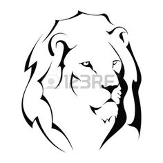 lion simple roar black and white - Google Search