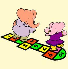 Fil Ailesi oyun oynuyor. Baba kız sek sek oynayrak eğlenceli zamanlar geçiriyor.  http://www.boyamaoyunlari.gen.tr/boya/886/Seksek-Oynayan-Fil.html
