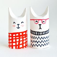 Toilet Roll Crafts – Let's Make Sophisti-Cats super-easy how-to tutorial to make your own troop of cool cat characters