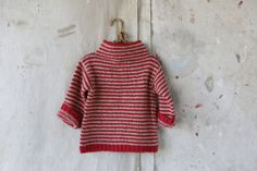 Favorite Red Striped Sweater - Should try to find a pattern and knit this for the girls