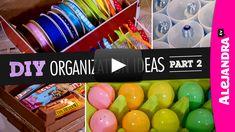 [VIDEO] DIY Organization Ideas (Part 2) from http://www.alejandra.tv/blog/2015/01/video-diy-organization-ideas-part-2/?utm_source=Pinterest&utm_medium=Pin&utm_content=DIYPart2&utm_campaign=WeeklyVideo