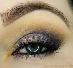 'Night In Purple' look by Tiril using Makeup Geek's Drama Queen, and Peach Smoothie eyeshadows along with Smitten blush to top off the look!