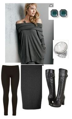 Cold Weather pencil skirt outfit