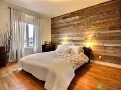 """Résultat de recherche d'images pour """"mur en bois chambre"""""""