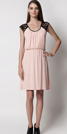 ab8163950 Lactancia · Figure8 Maternity s Harlow Nursing Dress in Blush from  Mismatched Blush Bridesmaids on www.herecomesthelovely.