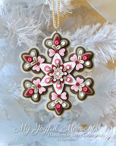 Handcrafted Polymer Clay Ornament por MyJoyfulMoments en Etsy