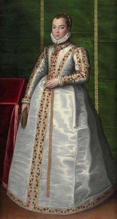 ▴ Artistic Accessories ▴ clothes, jewelry, hats in art - Sofonisba Anguissola | Portrait of a Noblewoman