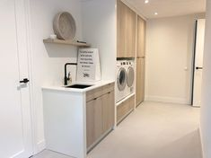 Would you like a clean and tidy laundry room like this Inspiration: villadroomhuis No mess, no fuss! New Homes, Laundry Storage, Storage Room, House, Tidying, Home, Home Appliances, Laundry Room, Room