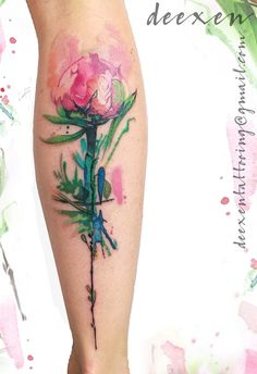 Roses are dancing with peonies #ink #inked #tattoo #tatouage #art #watercolourtattoo #watercolor #graphictattoo #geometrictattoo #aquarelle #deexen #deexentattooing #abstracttattoo