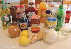 "Lemon Garlic, Garlic Dijon, Teriyaki, Spicy Sweet Glaze, and Lemon Marinade ""Dump Chicken""."
