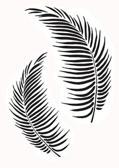Tropical Palm Leaves Stencil You are in the right place about Tattoo Pattern drawing Here we offer you the most beautiful pictures about the Tattoo Pattern illustration you are looking for. Stencil Patterns, Stencil Designs, Paint Designs, Leaf Stencil, Stencil Art, Flower Stencils, Tropisches Tattoo, Tattoos, Natur Tattoo Arm