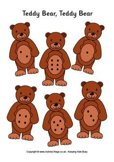 Teddy bear teddy bear game board