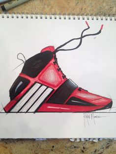 e656d7a1606a1c Adidas basketball shoe designed for Dwight Howard.