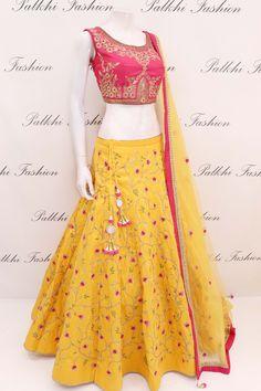 Designer Maroon Hand worked Lehenga Set From Palkhi Fashion Call/ WhatsApp Lehenga Skirt, Lehnga Dress, Lehenga Choli, Sarees, Kids Lehenga, Silk Dupatta, Bridal Lehenga, Dress Skirt, Indian Wedding Outfits