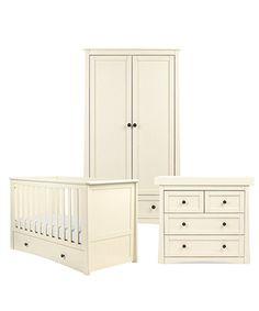 Mothercare Harrogate 3 db-os Óvodai Bútor szett - Almond White