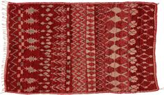 #Crimson #Argyle #Vintage #MoroccanRug #BerberTribes #Morocco #CarpetCrush4 x 7