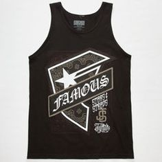 FAMOUS STARS & STRAPS Twitch PZer Hood Mens Tank