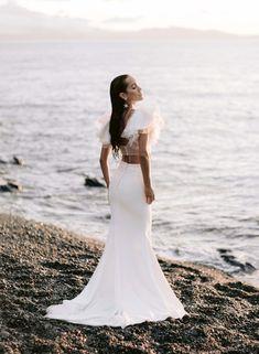 wedding dress, bridal, gowns, bridal Costume Blanc, Madame C, Rime Arodaky, 10 Anniversary, Bridal Collection, Parisian, Ruffles, High Waisted Skirt, Dream Wedding
