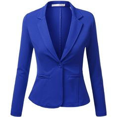 J.TOMSON Womens Boyfriend Blazer (370 MXN) ❤ liked on Polyvore featuring outerwear, jackets, blazers, blazer, blue blazer, boyfriend blazer, blazer jacket, blue jackets and boyfriend jacket
