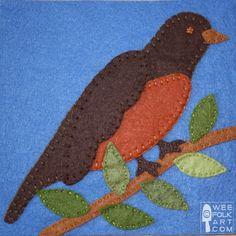 Robin Applique Block