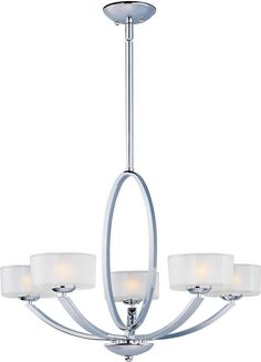 "0-077256>30""""w Elle 5-Light Chandelier Polished Chrome"