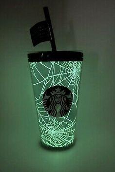 STARBUCKS Halloween 2021 Spider Web Cold Cup Tumbler 16 0z Grande Glow Dark NEW | eBay Starbucks Halloween, Espresso, Latte, Spider, Tumbler, Glow, Handmade Items, Dark, Ebay