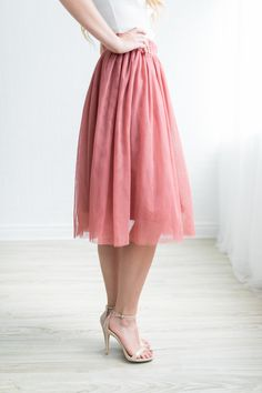 This Winter Tulle Midi Skirt is perfection in skirt form, it has everything you could ever want!