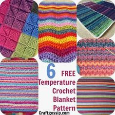 The basic idea is that you knit or crochet one row per day of a blanket in a color that coordinates with the temperature. If you use about eight to ten different colors, you'll get a beautifu…