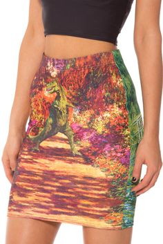 Jurassic Art Pencil Skirt by Black Milk Clothing $60AUD
