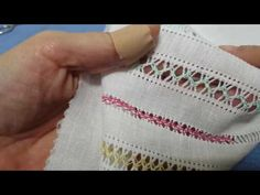 This Pin was discovered by Cen Border Embroidery, Hardanger Embroidery, Hand Embroidery Stitches, Embroidery Techniques, Ribbon Embroidery, Embroidery Patterns, Plastic Canvas Stitches, Hem Stitch, Drawn Thread