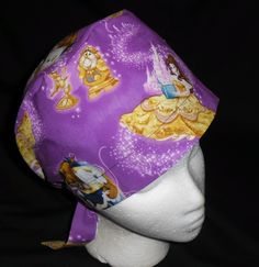 Surgical Scrub Hat Cap Happy Birthday Fabric Cotton Nurse ER Chemo Doctor Skull