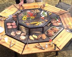 After taking our welding and woodshop classes, you too could make a campfire grill like this one. www.vocademy.com