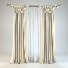 curtain 8 Model available on Turbo Squid, the world's leading provider of digital models for visualization, films, television, and games. Drapery Designs, Glam Bedroom, Home Curtains, Window Dressings, Fabric Decor, Window Treatments, Blinds, Living Room Decor, Windows