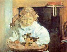 The Portrait of Son of the Artist - Leon Bakst