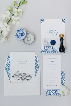 We love tile patterns. They can turn any inivitation, into a unique and timeless memorie. This suite has an even more special detail, a handrawn Lisbon illustration, how cute is this? Wedding Invitation Suite, Wedding Stationery, Portuguese Wedding, Blue Tiles, Tile Patterns, Unique Weddings, Destination Wedding, Place Card Holders, Love