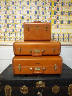 Vintage Samsonite Luggage Set  /   Three by TheVintageShopkeeper