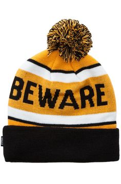 d0b4d2d56f8 Grizzly Griptape The Beware Pom Beanie in Black 31