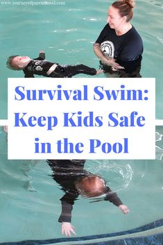 Want to keep your children safe in and around the pool this summer? Enroll in your local survival swim water safety lesson class to prevent drowning and learn how to be safe in bodies of water. Swimming Lessons For Kids, Toddler Swimming, Swimming Classes, Swimming Tips, Swim Lessons, Teach Kids To Swim, Learn To Swim, Life Skills For Children, Water Survival