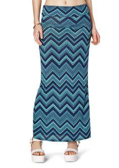 Navy Tribal Chevron Maxi Skirt | Maxi | rue21