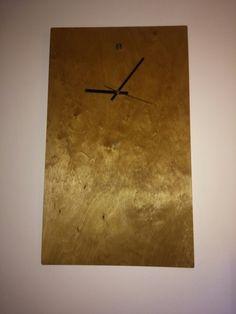 Wooden clock. By erdaltekin