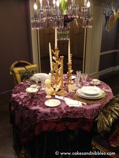 tablescapes | Tumblr. purple and gold