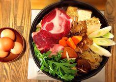 ムジナ肉のすき焼き(イメージ)