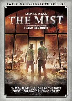 The Mist - my favorite Stephen King film adaptation Watch it. And then tell me if you wanted to duct tape Marcia Gay Harden's mouth shut and lock her in the freezer? Thomas Jane is awesome. Stephen King It, Best Stephen King Movies, Steven King, Scary Movies, Great Movies, Excellent Movies, Movie Covers, Horror Films, Movies Showing