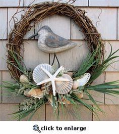 Shorebird Seashell Wreath | Free Shipping