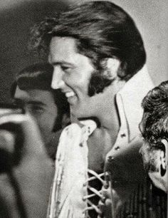 Elvis awaiting backstage opening night at the Las Vegas International Hotel August 10th 1970